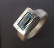 Ring mit Aquamarin